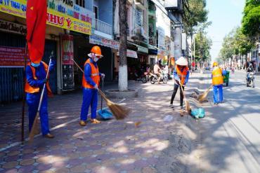 Album hình ảnh công nhân vệ sinh môi trường