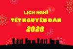 Thông báo về việc nghỉ Tết Nguyên đán Xuân Canh Tý 2020