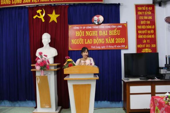 Hội nghị Đại biểu Người lao động Công ty cổ phần Công trình công cộng Vĩnh Long năm 2020