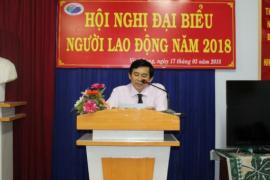 Hội nghị Đại biểu người lao động Công ty cổ phần Công trình công cộng Vĩnh Long năm 2018