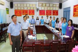 Lễ kết nạp Đảng viên mới - Chi bộ Khối gián tiếp - Đồng chí Nguyễn Thị Vân Thảo